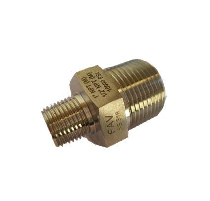 Hex Reducing Nipple Instrumentation Pipe Fittings