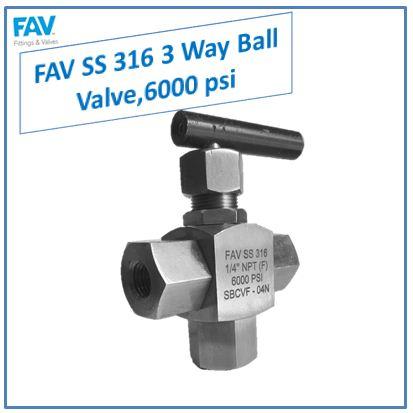 3 way panel mount ball valve