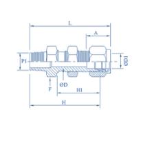 PTFE Bulkhead Male Connector