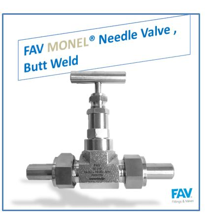 Monel Needle Valve Butt Weld