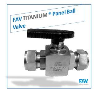 Titanium Panel Ball Valve
