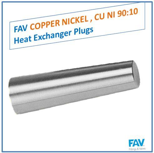 Copper Nickel CU NI 90 10 Heat Exchanger Plugs