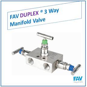FAV Duplex 3 Way Manifold Valve