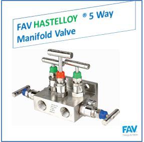 FAV Hastelloy 5 Way Manifold Valve