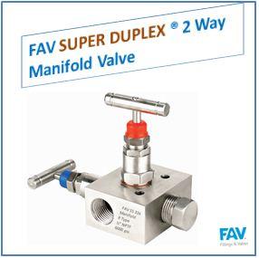 FAV Super Duplex 2 Way Manifold Valve