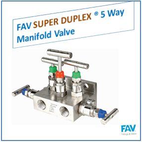 FAV Super Duplex 5 Way Manifold Valve