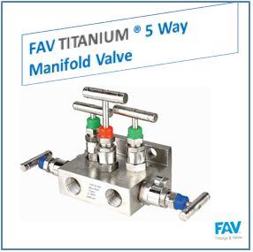 FAV Titanium 5 Way Manifold Valve