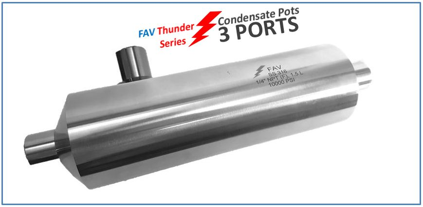 High Pressure Condensate Pots 3 Ports