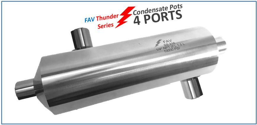 High Pressure Condensate Pots 4 Ports