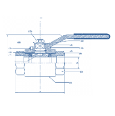 Ball Valve, Female,2 peice