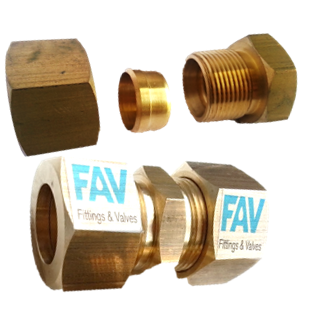 Brass Single Ferrule Fittings
