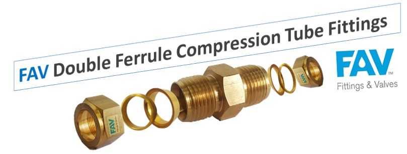 Brass Union Double Ferrule