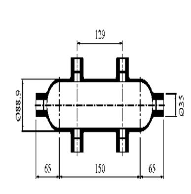 Condensate Pots 6 Ports ,Schedule 160