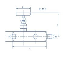 Gauge Needle Valve,Multiport ,Male X Female