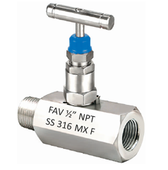 Hex Needle Valve Female X Male