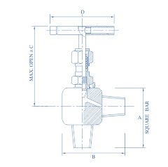Needle Angle Valve Female X Female