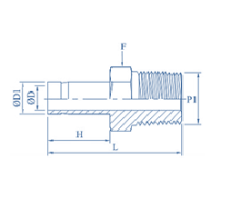 PTFE Male Adapter