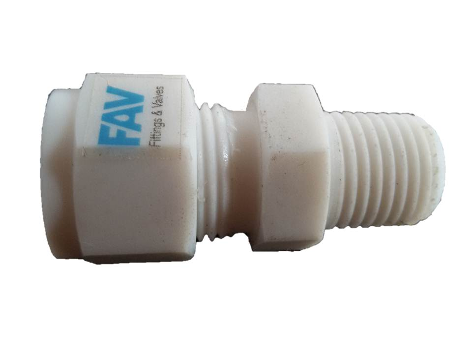 Ptfe male connector fav compression tube fittings