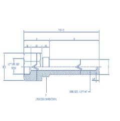 SS 316 Thermowell with Legging Length