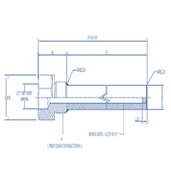 Weld Thermowell