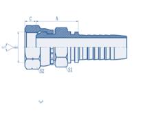 Metric Hydraulic Fitting