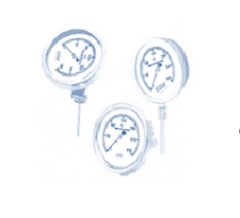 Pressure Gauge All SS Bimetal Thermometer