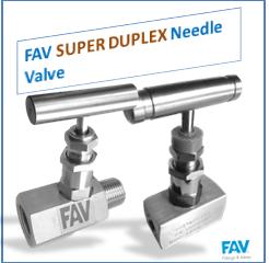 super duplex needle valve