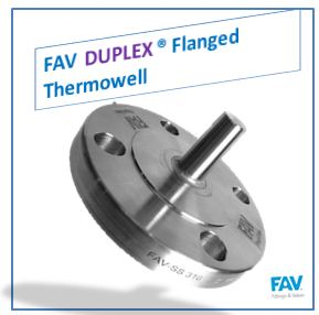 Duplex Flanged Thermowell