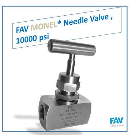 Monel Needle Valve,10000 psi