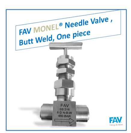 Monel Butt Weld Needle Valve