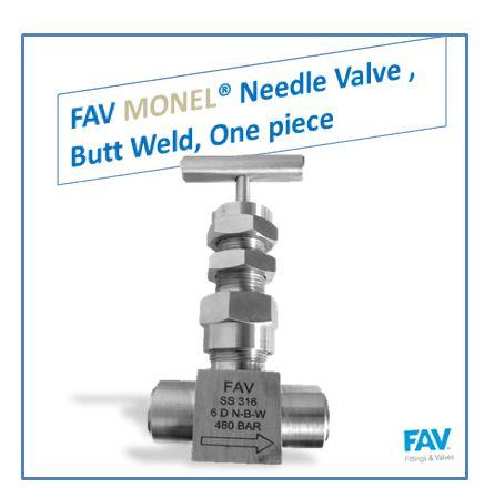 Monel Butt Weld Needle Valve