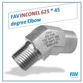Inconel 625 45 degree Elbow