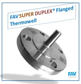 Super Duplex Flanged Thermowell