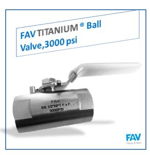 Titanium Ball Valve, 3000 PSI