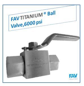 Titanium Ball Valve, 6000 PSI