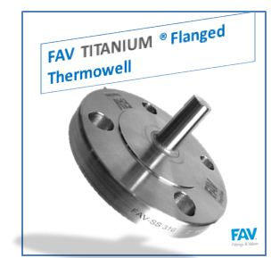 Titanium Flanged Thermowell