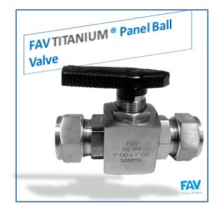 Titanium Panel Ball Valve