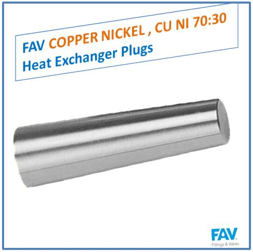 Copper Nickel CU NI 70 30 Heat Exchanger Plugs
