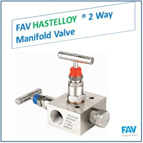 FAV Hastelloy 2 Way Manifold Valve