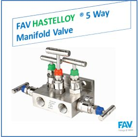 FAV Hastelloy 5 Way Manifold Valve