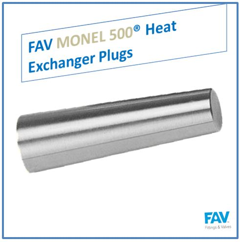 Monel 500 Heat Exchanger Plugs
