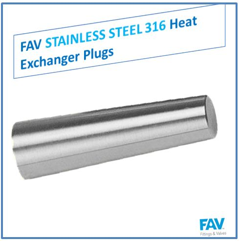 Stainless Steel 316 Heat Exchanger Plugs