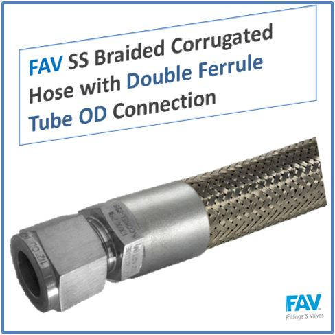 SS Wire Braided Hose with Flange Connection