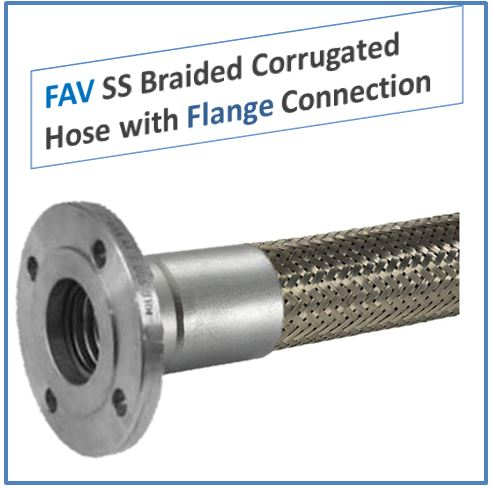 SS Braided Corrugated Hose with Flange Connection