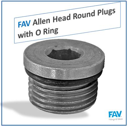 Allen Head Round Plugs with O Ring