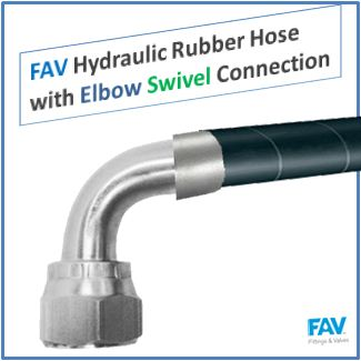 FAV Hydraulic Rubber Hose with Elbow Swivel Connection