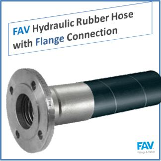 FAV Hydraulic Rubber Hose with Flange Connection