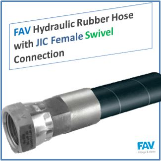 FAV Hydraulic Rubber Hose with JIC Female Swivel Connection