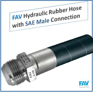 FAV Hydraulic Rubber Hose with SAE Male Connection