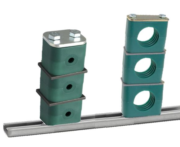 Horizantal Tube Clamp on Mounting Rail